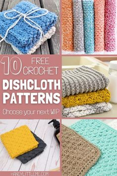 Free crochet dishcloth patterns for the beginner and the more advanced maker. Perfect to practice your skills and learn new stitch patterns. Learn basic crochet stitches and more advanced patterns with one of these projects. #crochet #crochetdishcloth #dishcloth #crochetstitches #beginnercrochet Crochet Stitches Patterns, Knitting Patterns Free, Stitch Patterns, Free Pattern, Crochet Home, Free Crochet, Crochet Kitchen, Bobble Stitch, Crochet Dishcloths