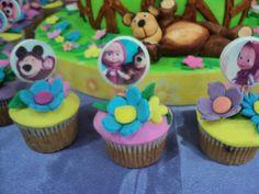 Cup Cakes de Masha y el Oso