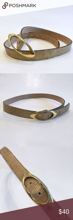 Spotted while shopping on Poshmark: B.B Simon Vintage Gold Leather Belt! #poshmark #fashion #shopping #style #BB Simon #Accessories
