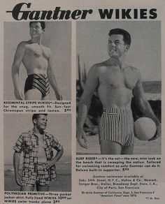 Mens Swimsuit Ad