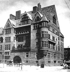 Charles Tiffany, in 1882, decided to build a gigantic, multi-family home for the entire family. Land was purchased on the southwest corner of Madison Avenue and 72nd Street where other mansions were just beginning to rise. Although Charles apparently contacted the young architectural firm of McKim, Mead & White, it was Louis who quickly took over the project.