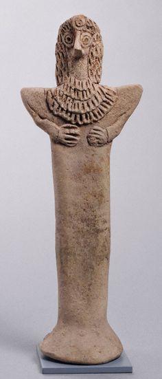 "North Syrian                                Female ""Pillar Figurine"", 2nd millennium B.C.                Terracotta"