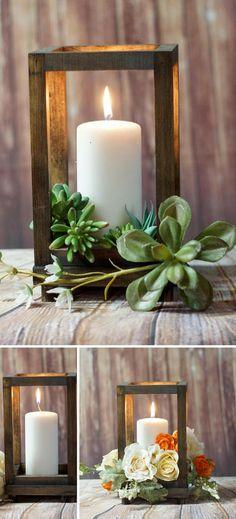 Rustic Wood Candle Lantern, wedding lantern, rustic lantern, 5th anniversary gift, boho candle lantern, wedding centerpiece, farmhouse #affiliate #weddings #centerpieces #rustic