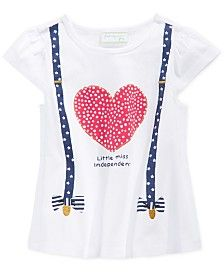 First Impressions Baby Girls' Heart & Suspenders T-Shirt, Only at Macy's