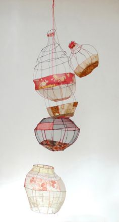 Untitled by French artist Sylvia Eustache Roots. via Contemporary Basketry: Suspended