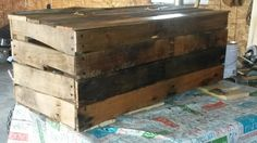 Up cycled pallet chest