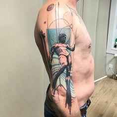 "Tattoofilter on Instagram: ""#Repost @xoil_tatouage_ ・・・ Thanks to Joël. A son of Cronus and Rhea. • • • • • #xoil #poseidontattoo #makewavesmovemountains…"" Poseidon Tattoo, Move Mountains, Instagram Repost, Sleeve Tattoos, Watercolor Tattoo, Ideas, Tattoo Sleeves, Thoughts, Arm Tattoo"