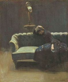 """Walter Sickert: """"The Acting Manager"""" (portrait of Helen Carte, wife of Richard D'Oyly Carte), c.1885"""