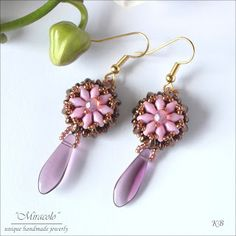 Miracolo - Earring PDF (not English but good pictures).  #Seed #Bead #Turorials