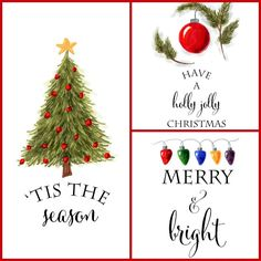 Free Christmas printables to use for DIY wall art, crafts or cards.