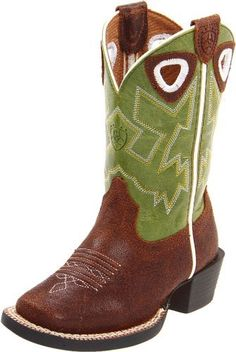 Ariat Charger Western Boot (Toddler/Little Kid/Big Kid) Ariat. $89.95. Thermoplastic Rubber outsole. Exclusive Ariat booster bed for growth. leather. Rubber sole
