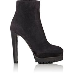 Sergio Rossi Women's Toronto Suede Platform Ankle Boots ($920) ❤ liked on Polyvore featuring shoes, boots, ankle booties, grey, suede ankle booties, high heel stilettos, suede boots, grey ankle boots and gray suede booties