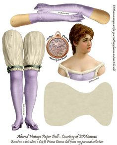 EKD altered L Prima Donna - Articulated Paper Doll- Soft Violet | Flickr - Photo Sharing!