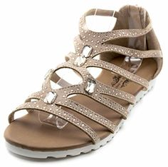 c3624a2d0b0a5f Charles Albert Women s Caged Suede Rhinestone Gladiator Back Zip Sandal      You can get more details here   Jelly Sandals