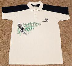 vintage Sergio Tacchini polo casual 1980 1990 shirt tennis new boxed size 3