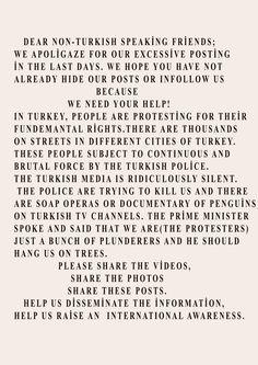DEAR NON-TURKISH SPEAKİNG FRİENDS..   #direngeziparkı #direnturkiye #direnistanbul