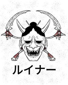 Oni Tattoo, Hanya Tattoo, Tattoo Sketches, Tattoo Drawings, Art Sketches, Japanese Tattoo Art, Japanese Tattoo Designs, Body Art Tattoos, Tatoos