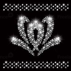 Flower crystal. Moda.  #gems #glamor  #rivets  #decorations  #vector #shine  #jewelry  #gray #glow  #glare  #fashion  #fabric  #element  #diamonds  #design  #decorative
