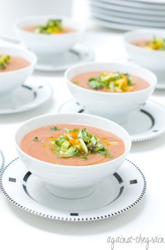 Against The Grain Gluten Free Food Blog » Creamy Gazpacho (Gluten Free/Dairy Free)