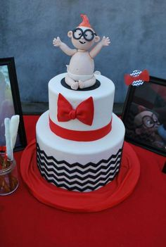 Mr Peabody and Sherman baby shower party cake! See more party planning ideas at CatchMyParty.com!