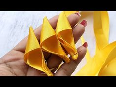 DIY Creative Art , Ribbon Craft Cool Ideas - YouTube Ribbon Crafts, Diy Crafts, Baby Hair Bands, Fabric Jewelry, How To Make Bows, Christmas Art, Creative Art, Hair Bows, Make It Yourself