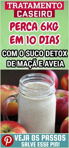 Suco Detox de Maça e Aveia Para PERDER 6Kg em 10 Dias é uma boa alternativa de sucos saudável, além de ajudar a Emagrecer Com Saúde. O Suco Detox é uma bebida que contém componentes que favorecem uma limpeza hepática, potencializando a eliminação de toxinas que sobrecarregam o seu organismo. #dicas #truques #receitas #caseiro #emagrecimento #sucodetox #sucoparaemagrecer #sucodetoxdemacaaveia #macaaveia #receitadesucodetox #perderpeso Yummy Drinks, Healthy Drinks, Dietas Detox, Bebidas Detox, Personal Trainer, Weight Loss Tips, Smoothies, Food And Drink, Low Carb