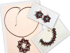"""Parure fantaisie """"Anna Lisa"""" en coton et perles de rocaille. : Parure par atelier-frivole"""