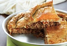 Amateur Cook Professional Eater - Greek recipes cooked again and again: Country-style meat pie with Kasseri cheese and walnuts Mince Recipes, Cooking Recipes, Crockpot, Greek Pita, Greek Pastries, Sandwiches, Greek Cooking, Food Categories, Dessert