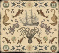 Nick nautical ideas. Love the octopus