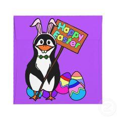 Penguin applique pouchchildrens change purse phone case easter penguin with colored eggs negle Images
