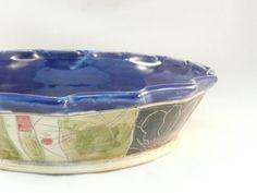 Pie Plate / Pie Baking Pan / Ceramic Bakeware by BlueSkyPotteryCO
