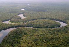 La rivière Lulilaka, parc national de Salonga, 2005
