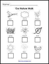 Free Printable Nature Walk Checklist for science in preschool and kindergarten Pre K Activities, Nature Activities, Classroom Activities, Science Nature, Free Preschool, Preschool Crafts, Preschool Camping Activities, Kindergarten Checklist, Camping Checklist