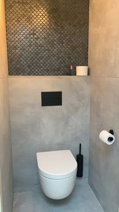 Small Downstairs Toilet, Modern Toilet, Bathroom Toilets, Bathrooms, Bathroom Inspiration, Bathroom Ideas, Bathroom Interior, Powder Room, Home And Living