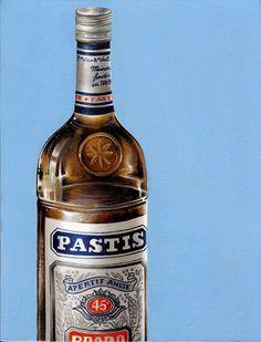 """""""Prado Pastis de Marseille"""" (2014) Oil on canvas (21x27cm) by Tiina Lilja"""