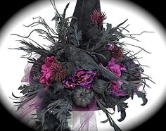 Your place to buy and sell all things handmade Halloween Witch Hat, Halloween Party Costumes, Diy Halloween Decorations, Cute Halloween, Witch Hats, Diy Witch Hat, Costume Ideas, Halloween Stuff, Halloween Makeup