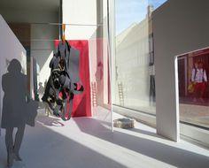 OVERLAB model texile art in room