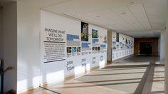 Wall timeline. GE Works by Bruce Mau Design, via Behance