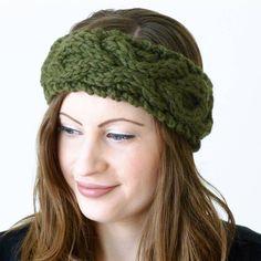 cable knit headband by miss knit nat   notonthehighstreet.com