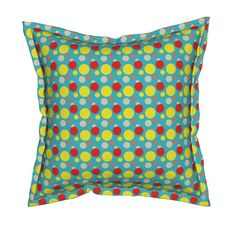 Shop unique pillows, tea towels, cloth napkins, and more designed by independent artists from around the world. Throw Cushions, Ditsy, Custom Fabric, Spoonflower, Turquoise, Wallpaper, Shop, Design, Home Decor