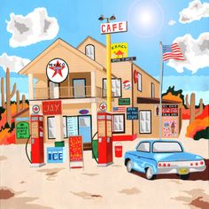 Classic American Texaco by Mohan Ballard available on Art Rookie! www.artrookie.co.uk