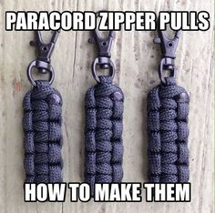 How To Make A Paracord Zipper Pull by Stockstill Outdoor Supply Paracord Zipper Pull, 550 Paracord, Paracord Braids, Paracord Bracelets, Knot Bracelets, Survival Bracelets, Paracord Keychain, Gemstone Bracelets, Jewelry Necklaces