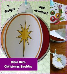 Herod the Great (Matthew Christmas Baubles, Christmas Decorations, Bible Heroes, Matthew 2, Advent Activities, Advent Season, Prince Of Peace, Circle Punch, Ornament Crafts