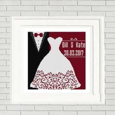 Wedding cross stitch pattern/wedding favors/wedding bookmark/bride and groom/wedding Anniversary wedding pattern/cross stitch wedding by CrossStitchFactory on Etsy