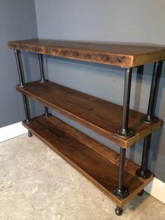 Entryway   Reclaimed Wood Shelf/Shelving Unit with 3 by UrbanWoodFurnishings
