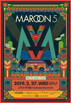 Maroon 5 2019 Korea Tour Special Poster on Behance Maroon 5, Graphic Design Posters, Graphic Design Illustration, Illustration Art, Pop Posters, Band Posters, Korea Design, Kunst Poster, Web Design