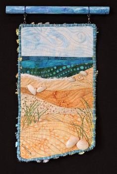 Beach series #10 by Eileen Williams purchase this quilt from my Etsy store, Artquiltsbyeileen
