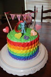 Cakes and Cupcakes: Rainbow My Little Pony Cake.