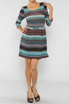Mixed Pattern Dress If you love dresses salediem has the look for Fall #salediem #fall#fashion. Shipping is FREE!