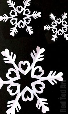 Red Ted Art's How to make paper snowflakes - we love 6 pointed snowflakes as they are that little bit more special. Here we show step by step instructions of how to cut a snowflake from paper. #Snowflake #papercrafts #papersnowflakes #winter #christmas #winterdecor #papercraftskids